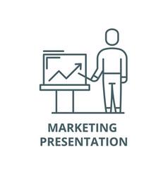 marketing presentation line icon linear vector image