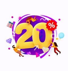 Mega sale 20 percent discount special offer vector