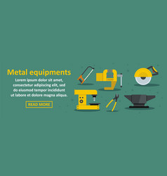 metal equipments banner horizontal concept vector image