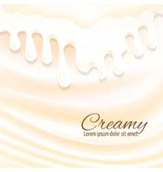 Milk splashes background vector image
