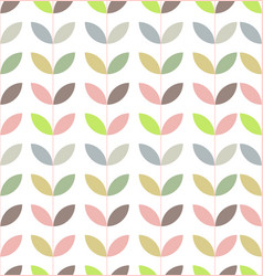 Minimalist abstract flower seamless pattern vector