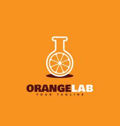 Orange lab logo vector