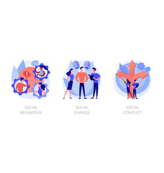People interaction and communication abstract vector
