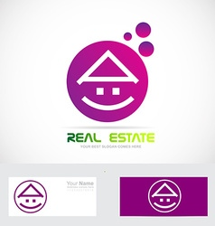 Purple real estate house vector