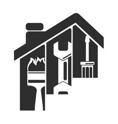 Repair home symbol vector