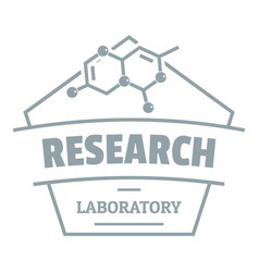 Research molecular logo simple gray style vector