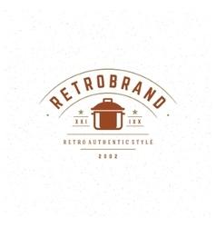 Restaurant Design Element in Vintage Style for vector