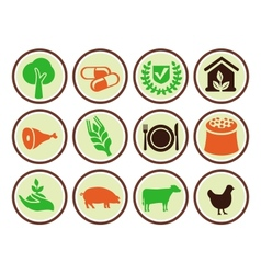 Set agricultural icons vector