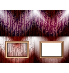 Set background with frames and spotlights vector