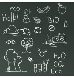 set eco symbols vector image