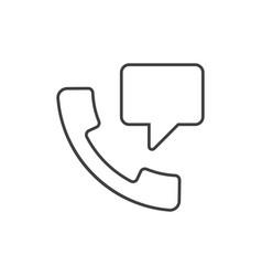 speech bubble from handset vector image