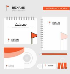 sports flag logo calendar template cd cover diary vector image