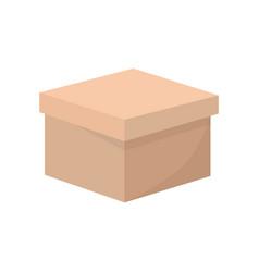 Squared box ardboard vector