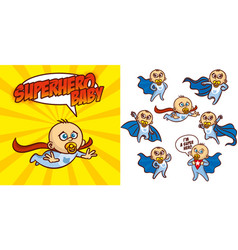 superhero baby boy cartoon character vector image