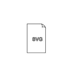 svg format document line icon outline sign linear vector image