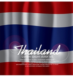 Thailand Flag Curtain vector