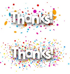 Thanks paper banners vector image