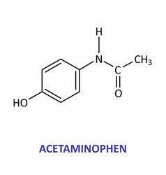 the acetaminophen formula vector image