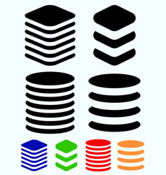Tower symbols stacked cylindrical squarish barrel vector