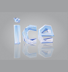 transparent word ice vector image