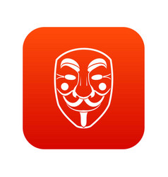 vendetta mask icon digital red vector image