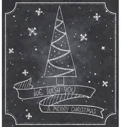 Vintage of chalkboard vector