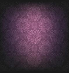 violet dark lace background vector image