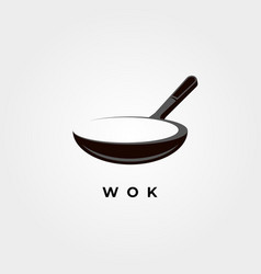 wok symbol object design vector image