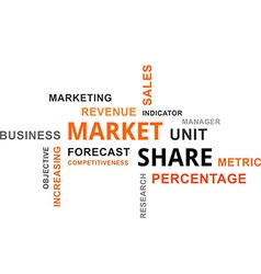 word cloud market share vector image