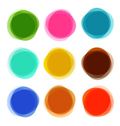 abstract shapes set colorful circle objects vector image vector image