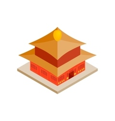 Chinese temple icon isometric 3d style vector image