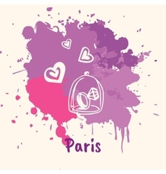 French Emotive Motive with romantic present vector image vector image