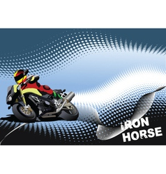 iron horse vector image vector image