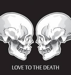 skulls object vector image vector image