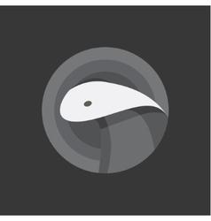 Snake cobra animal into flat vector image vector image