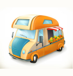 travel trailer camping 3d icon vector image vector image