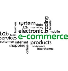 word cloud e commerce vector image vector image