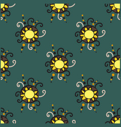 abstract seamless pattern with circle elements vector image