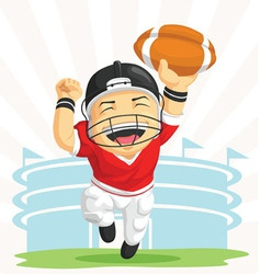 Cartoon of Happy Football Player vector image vector image