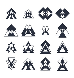 Collection of geometric shapes Trendy design vector image vector image