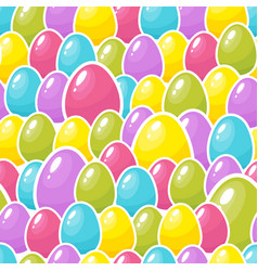 easter colorful eggs background seamless pattern vector image vector image
