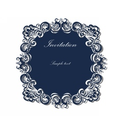 Lace ornamented round frame vector