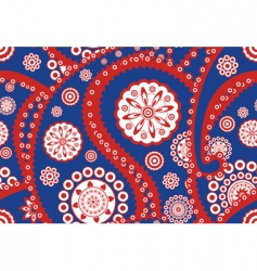 retro paisley pattern vector image vector image