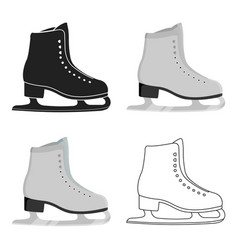 skates icon cartoon single sport icon from the vector image