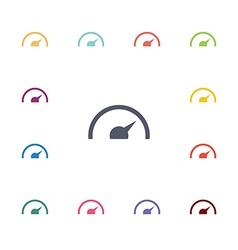 speedometer flat icons set vector image