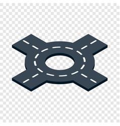 circular interchange isometric icon vector image