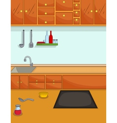 cute kitchen cartoon for you design vector image vector image