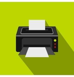 Photo printer icon flat style vector image vector image