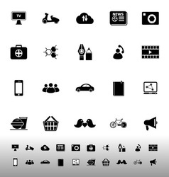 Social network icons on white background vector image vector image