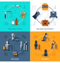 Welder design concept set vector